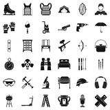 Optional equipment icons set, simple style. Optional equipment icons set. Simple set of 36 optional equipment vector icons for web isolated on white background Royalty Free Stock Photos
