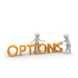 Options 3D. We all can choose on between several options. The right choice, however, we fall hard very often Stock Photos