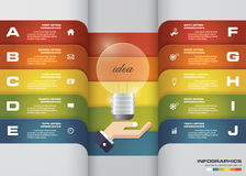 10 options abstract timeline use for infographic/presentation. Royalty Free Stock Photos