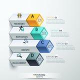 Options abstraites d'infographics du diagramme 3d illustration stock