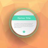 Options abstraites d'inforgraphics Photos libres de droits