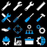 Options And Service Tools Icon Set Royalty Free Stock Photography