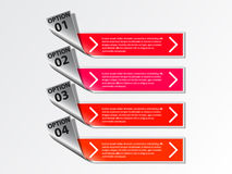 Options banner. Royalty Free Stock Images