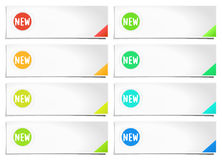 Options banner template Royalty Free Stock Image