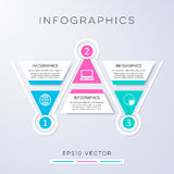 Options banners infographic design. Colorful modern options banners infographic design triangles Royalty Free Stock Image