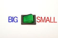Options - big or small Royalty Free Stock Images