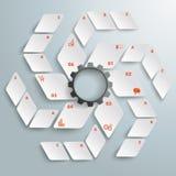 Options blanches ABC PiAd de la vitesse 6 de fan blanche de losange Photos libres de droits