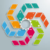 Options blanches colorées ABC PiAd de la vitesse 6 de fan de losange Photos stock