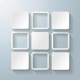 Options blanches de la conception 5 de places de rectangles illustration de vecteur