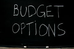 Options de budget Photographie stock