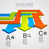 Options direction of the arrows path Royalty Free Stock Photo