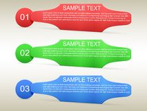 Options du calibre 3 d'Infographic Image stock