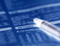 Options financières Images libres de droits