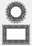 Options frame for napkins Royalty Free Stock Photo