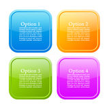 Options info buttons Stock Photos