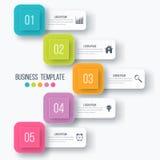 Options infographic d'illustration de vecteur cinq illustration de vecteur