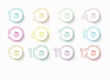Options infographic de nombre de cercle Le calibre de vecteur de conception peut être employé pour la disposition de déroulement  illustration libre de droits