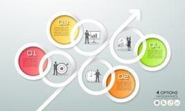 Options infographic du calibre 4 de conception Concept d'affaires Photographie stock libre de droits