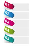Options infographic Royalty Free Stock Image