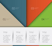 4 options infographic template. Big colored template for report, products description Stock Images