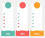 3 options infographics vector template with price. Isolated on white background royalty free illustration