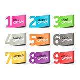 Options numbers, infographics element Stock Photography