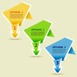 Options Paper Origami Arrow Royalty Free Stock Photography