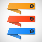 Options from paper vector Royalty Free Stock Photo