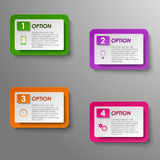 Options progress design template Royalty Free Stock Images