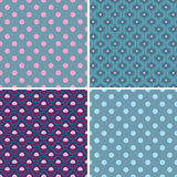 Options seamless patterns. Vector decor in gray-bl Royalty Free Stock Photos