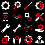 Options and service tools icon set Stock Images
