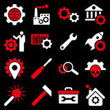Options and service tools icon set Stock Image