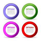 Options text icons Royalty Free Stock Photos