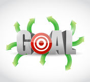 Options to your goal. illustration design Royalty Free Stock Image