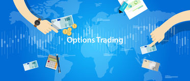 Options trading illustration concept market analysis Stock Photo