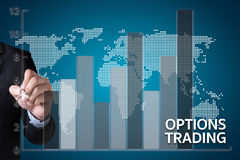 OPTIONS TRADING investment in option trade of trader Business co Stock Photos