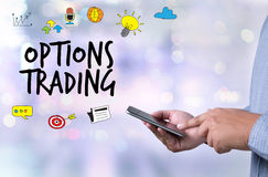 OPTIONS TRADING investment in option trade of trader Business co Royalty Free Stock Photos