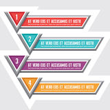 Options Vector Banners for Creative Designed Works Royalty Free Stock Photo