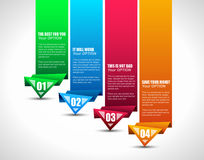 Optionsmarke mit origami Papierart Stockfotos