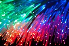 Optique de fibre Photographie stock libre de droits