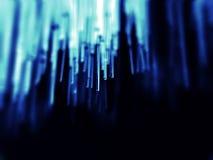 Optique des fibres dans le bleu Photos stock