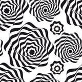 Optisch art Zwart-wit naadloos patroon royalty-vrije stock afbeelding