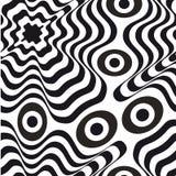 Optisch art Zwart-wit naadloos patroon stock foto's