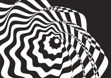 Optisch art Zwart-witte bachground royalty-vrije stock foto's