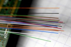 Optisch fiberglas royalty-vrije stock afbeelding