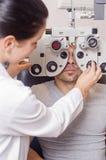 Optisch laboratorium stock foto's