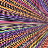Optisch van de de Achtergrond streep Abstract Illusie van het Regenboogspectrum Kleurrijk Patroonmalplaatje stock illustratie