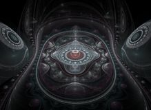 Optische 3D Grote Julian Fractal 01 van de Kunst stock illustratie