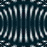 Optische achtergrond met zwart-wit geometrische lijnen moiré Royalty-vrije Stock Afbeelding