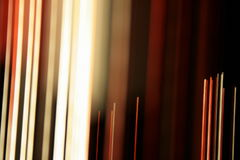 Optische Faserleuchte Zeilen Stockbild